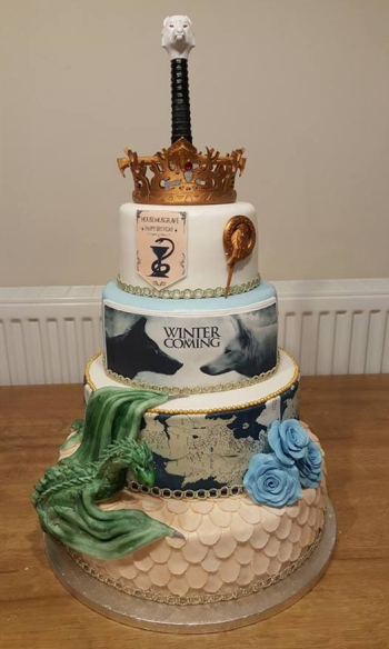 game of thrones themed cake with Sinojoinsun edible ink-