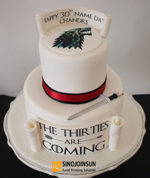 Game-of-thrones-cake with Sinojoinsun food grade edible ink