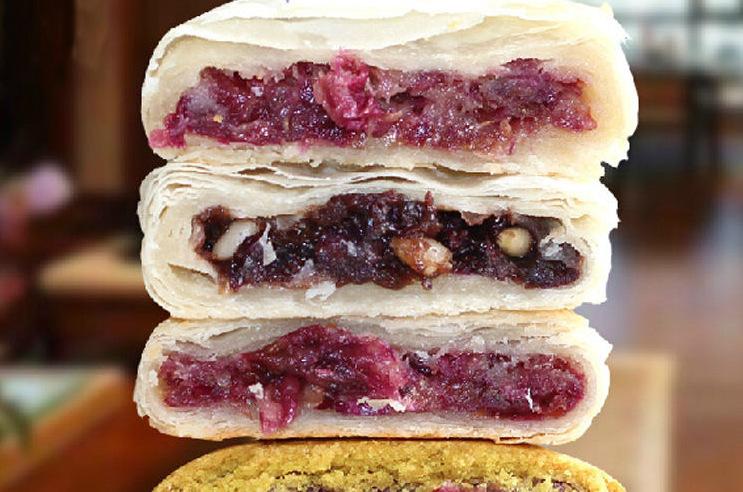 flow cake printed with edible ink and online food printer, printing food