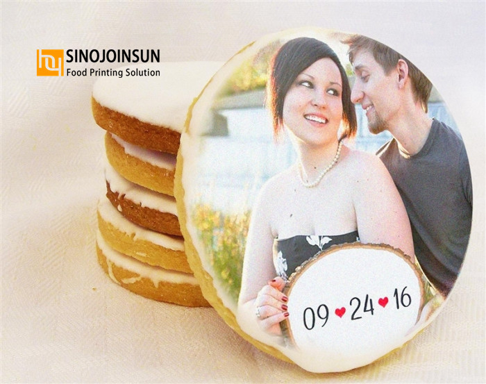 wedding cookie printed by Sinojoinsun edible ink_副本