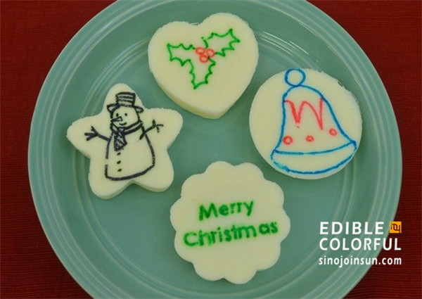 icing marker christmas cookie